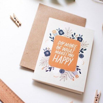 Sešit Do more of wat makes you happy A6 printintin