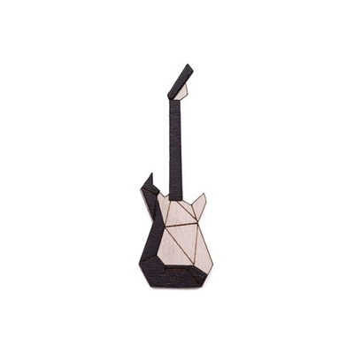 Dřevěná brož Electric Guitar Brooch Bewooden