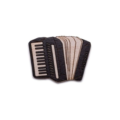 Dřevěná brož Accordion Brooch Bewooden